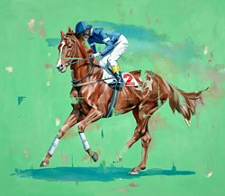 Ready To Race by Pete Hawkins - Original Painting on Box Canvas sized 32x28 inches. Available from Whitewall Galleries